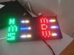 The finished device showing the current time in binary
